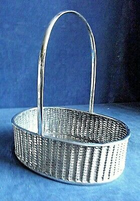 GOOD ~ Arts & Crafts Styled ~ SILVER Plated ~ Egg / Fruit  / BASKET ~ c1895