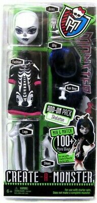 Monster High Create-A-Monster Skeleton Add-On Pack 10.5-Inch