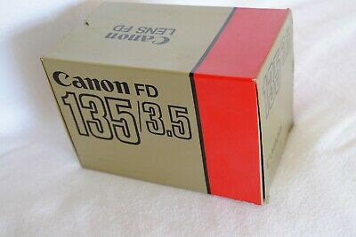 CANON FD FIT F3.5 135mm TLEPHOTO LENS (FILM OR DIGITAL) MINTY CONDITION