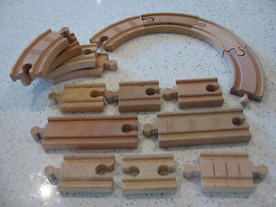 EXTRA TRACK Expansion pack for wooden train track ( Brio, ELC, Thomas ) bB