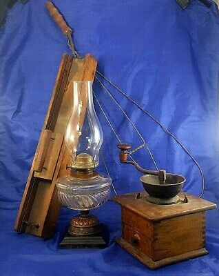ANTIQUE PIONEER HOUSEHOLD KITCHEN ITEMS 4 PIECE LOT CA HISTORY PIECES Circa 1889