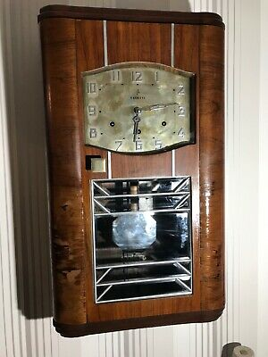 Rare VEDETTE VINTAGE ART DECO  Westminster Chime Wall Clock