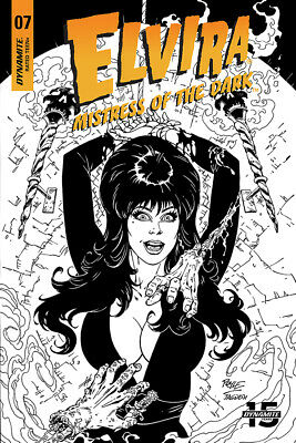 Elvira Mistress Of Dark #7 1:20 Royle B&W Variant (10/07/2019)