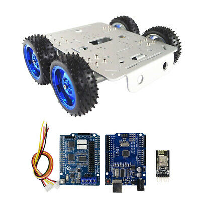 Smart Motor Robot Chassis Kit BT/WiFi Driver Kit and Battery Box for Arduino