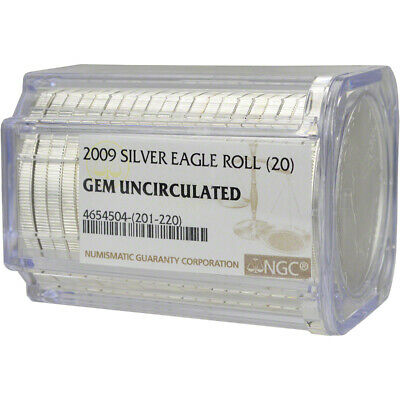Roll of 20 - 2009 American Silver Eagle - NGC Gem Uncirculated