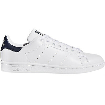 adidas Originals Mens Stan Smith Low Rise Lace Up Trainers - White - 8 - BGRADE