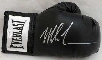Mike Tyson Autographed Signed Black Everlast Boxing Glove Rh Silver Jsa 140638