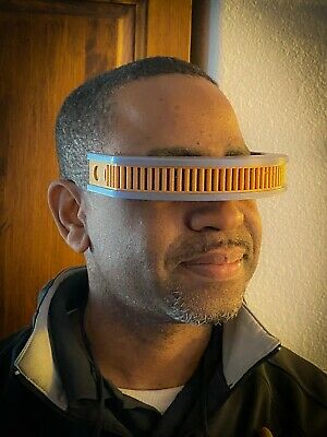 Star Trek Next Generation TNG Geordi La Forge Visor Costume Prop Cos Play