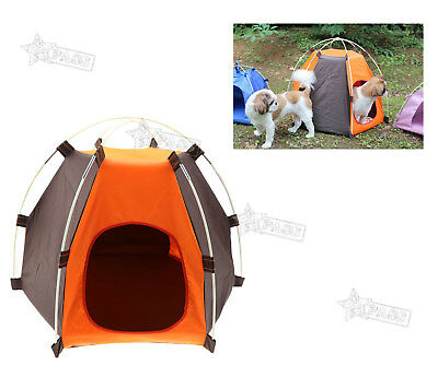 Folding Portable Pet Tent Camp Puppy Dogs Cats Bed Outdoor House Waterproof
