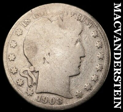 1908 Barber Half Dollar- Scarce !! Better Date !! #b2803