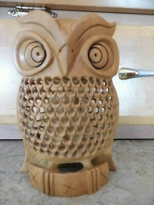 OWL IN FLIGHT Hand Carved Suar Wood Figurine BALI WOOD CRAFT AB2053 ONLY 5 LEFT