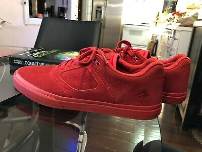 9f3dbf3c3715 Emerica Reynolds 3 G6 Vulc X Baker Mens Red Suede Sneakers Skate Shoes 9