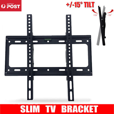 TV Bracket Wall Mount Slimline Tilting LCD LED 26 32 40 42 43 47 48 49 50 55inch