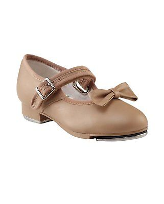 Capezio Mary Jane Tap Shoe Girls Style 3800 Caramel / Black / Tan