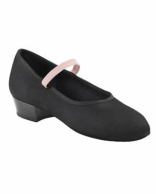 Capezio Canvas Character Dance Shoe  Black Girl's Style 4571C