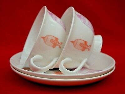 Paperchase Fine China Afternoon Tea Set - 2 Cups & Saucers Birdcage Design!