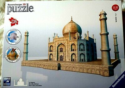 Ravensburger 3d Puzzle -Taj Mahal 216 Pieces EXCELLENT CONDITION - UK POST FREE
