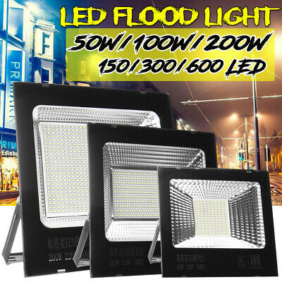 50W/100W/200W LED Floodlight Motion Outdoor Garden Security Flood Light Lamp