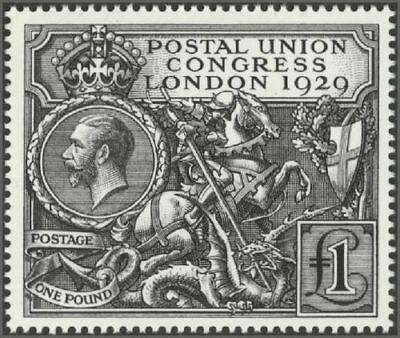 GB 1929 Commemorative Stamp~PUC~£1~Official RM~Reproduction~2010~UK