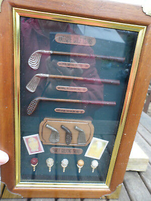 key holder box with golfing picture on front. early golfing item very good