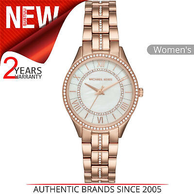 0c75e8adb87a Michael Kors Lauryn Ladies Watch MK3716│Crystal Mother of Pearl Dial│Rose  Strap
