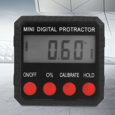 Single Side 4x90° Zinc Alloy Angle Finder Digital Protractor Inclinometer Meter