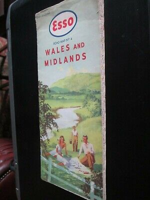 Esso Road Map No 4 Wales and Midlands