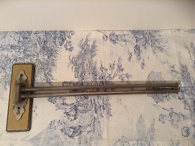 Vintage French Metal Bathroom Towel Rail (2921)