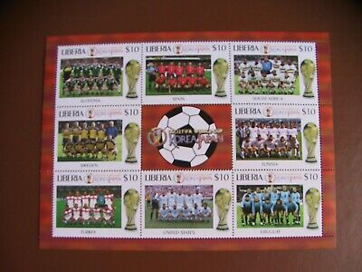 Bloc Neuf Football Liberia 2002  - Mint Sheet Soccer Liberia 2002