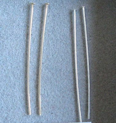 """Sterling Silver .925 Head Pin  2"""" 22 or 24 Gauge Choose Quantity USA Made"""