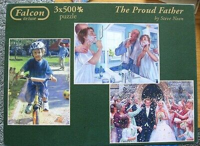 * The Proud Father~By Steve Noon~Falcon Deluxe Jigsaw Puzzles~3 x 500 Pieces.*