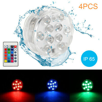 Waterproof Submersible 10LED Light RGB Lamp for Vase Party Swimming Pool LD1430