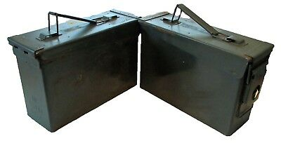 Lot of 2 Ammo Can Box Army Military Surplus M19A1 Metal Storage 7.62 MM 30 Cal