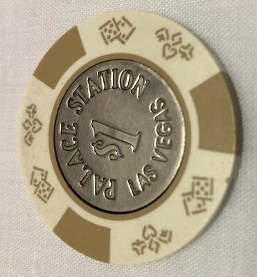 Palace Station Las Vegas $1 Casino Chip With Silver Inner Circle