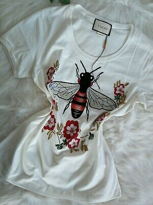 0a3149f99 AUTHENTIC Women`s Tops T-Shirt COTTON Embroidery Blouse White Hoodies Funny  Summ