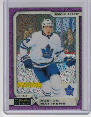 18/19 OPC Platinum Toronto Maple Leafs Auston Matthews Violet Pixels card #100