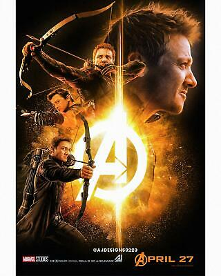 "Avengers 4: Endgame Hawkeye Movie Poster 24"" x 36"""