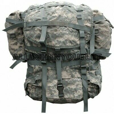 US Military MOLLE ACU LARGE RUCKSACK Field Pack w/ Frame + Sustainment Pouch FC