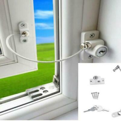 Baby Safety Security Cable Locks Child Door Window Restrictor Catch Wire Rope Q