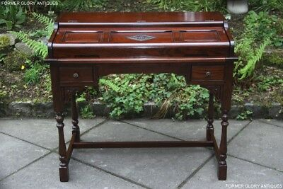 Old Charm Tudor Oak Computer Phone Writing Table Laptop Stand Office Work Desk