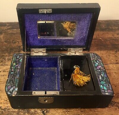 Antique~Vintage Japanese Lacquered Music Jewellery Box