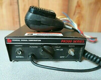 Federal Signal PA300 Series 690000 Electronic Siren with Microphone