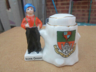 Rare Jackie Coogan Carlton Ware Crested China Ink Well ? Windsor Crest