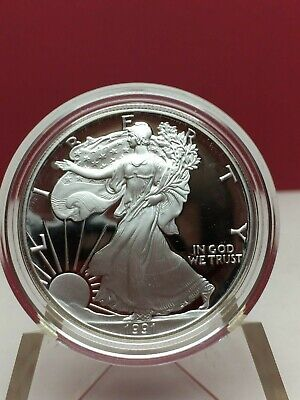 1991-S Proof American Silver Eagle Boxed & Coa Complete Bin Free Shipping
