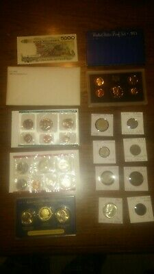 BIG coin LOT collection MINT SETS PROOF INDIAN BUFFALO $3 SILVER NO JUNK DRAWER