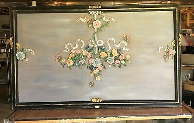Salvaged Antique English Carved Wood Fireplace Mantel Panel