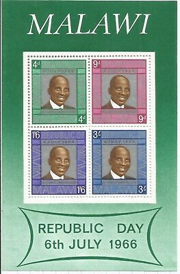 Arcade 39p Sale Malawi 1966 Republic Day MS MNH