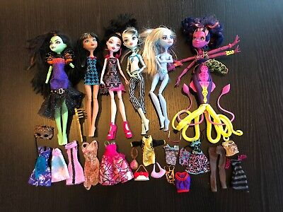 LOT Monster High Ever After Dolls w/ Clothes & Great Scarrier Reef Octopus Kala
