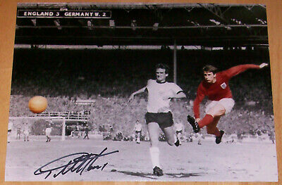 Geoff Hurst England 1966 World Cup Personally Signed Autograph 16X12 Photo
