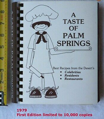 """1979 FIRST LIMITED ED """"Taste of Palm Springs"""" Hope Autrey Ford Shore McMahon"""